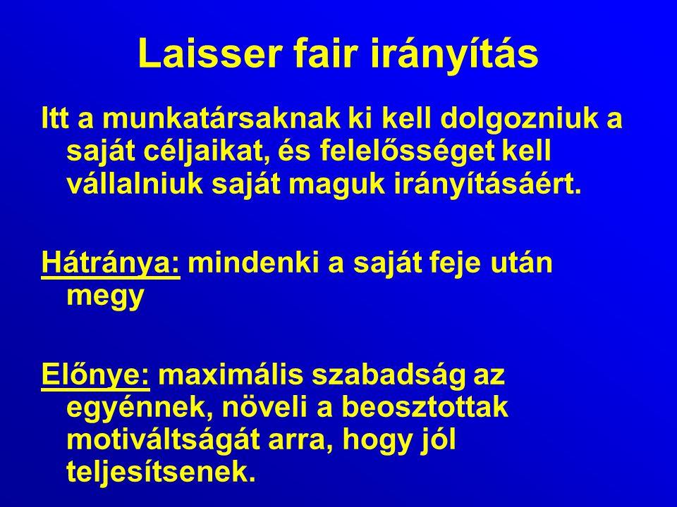 Laisser fair irányítás