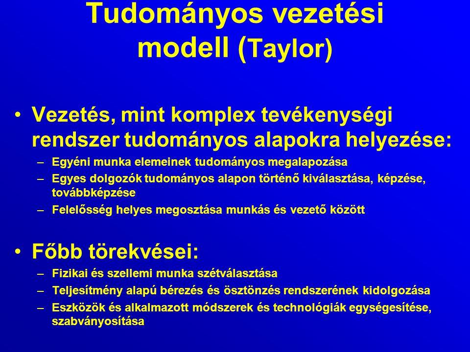 Tudományos vezetési modell (Taylor)