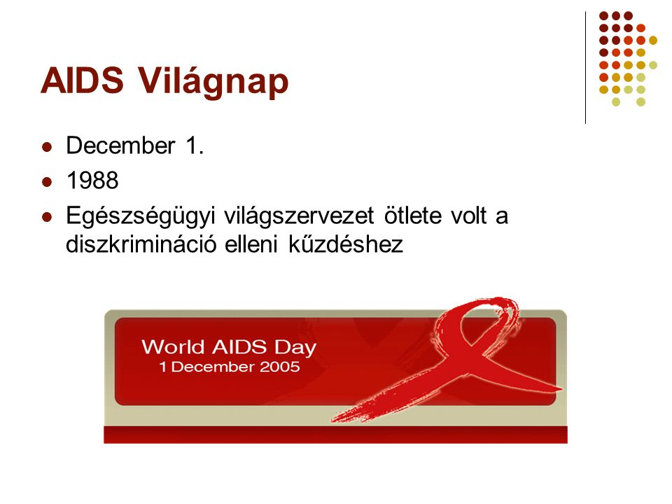 AIDS Világnap December 1. 1988