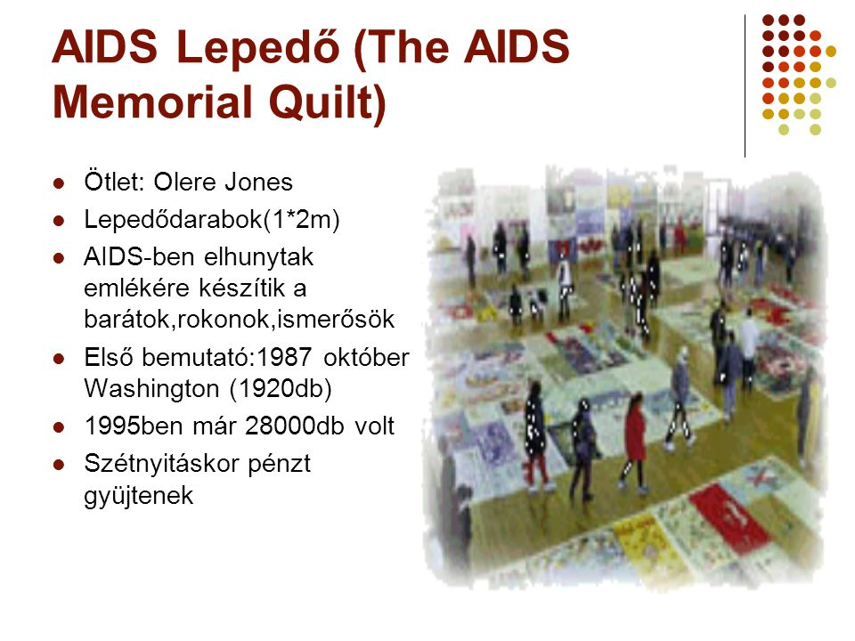 AIDS Lepedő (The AIDS Memorial Quilt)