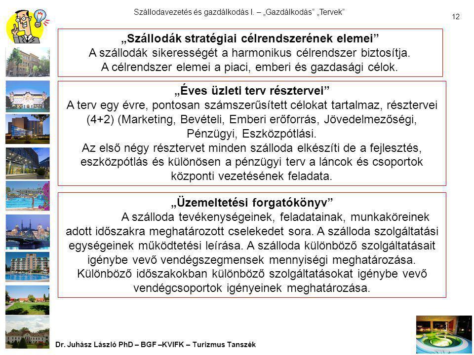 """""""Szállodák stratégiai célrendszerének elemei"""