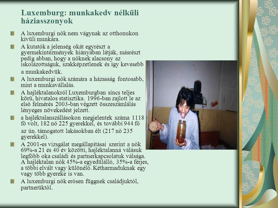 Luxemburg: munkakedv nélküli háziasszonyok