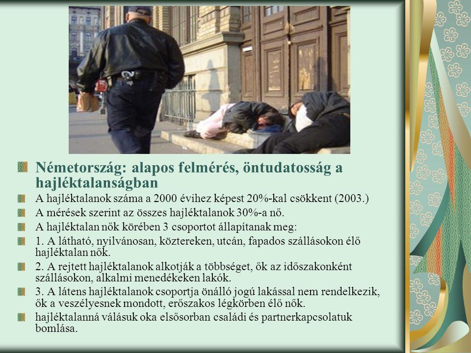 Németország: alapos felmérés, öntudatosság a hajléktalanságban