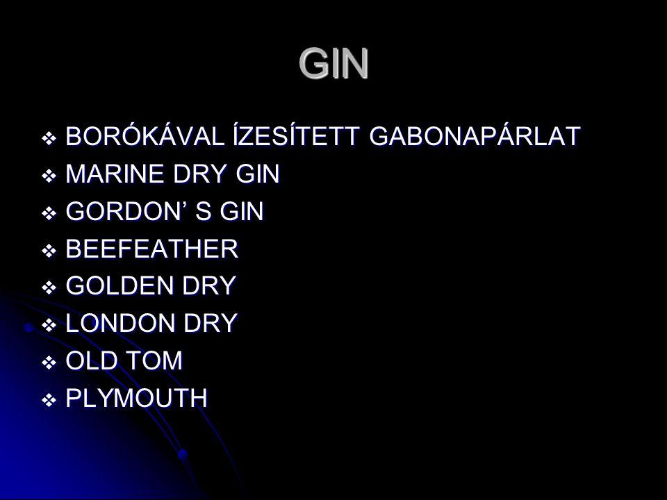 GIN BORÓKÁVAL ÍZESÍTETT GABONAPÁRLAT MARINE DRY GIN GORDON' S GIN