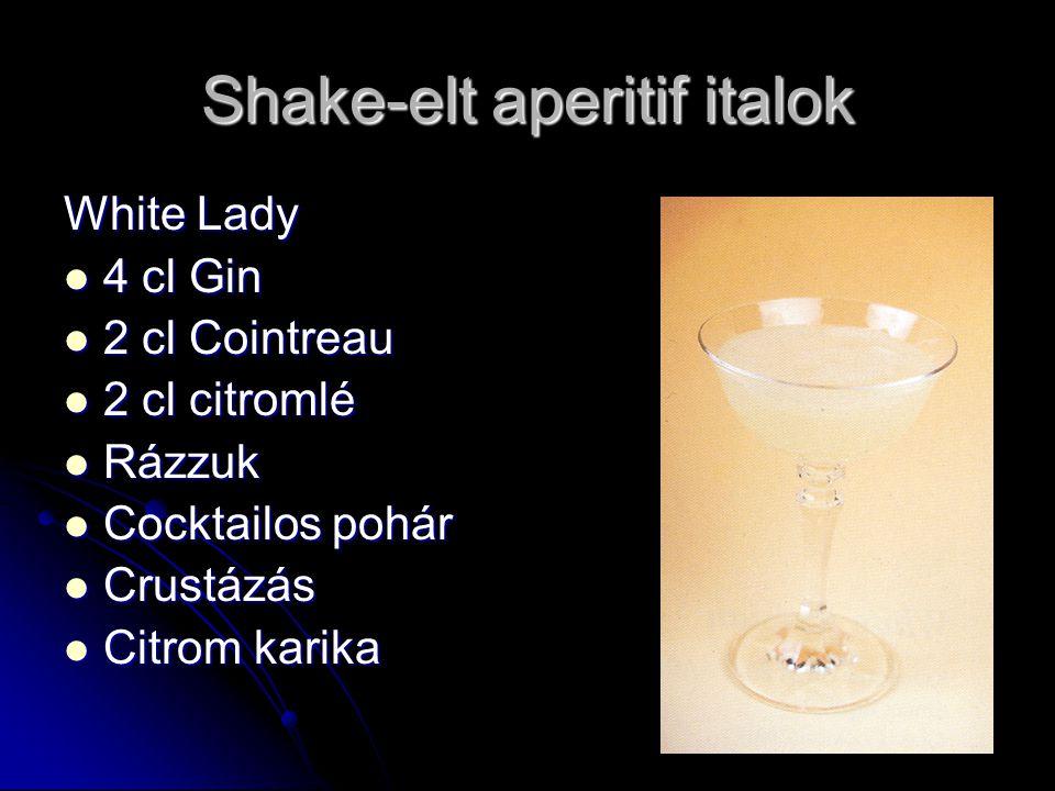 Shake-elt aperitif italok