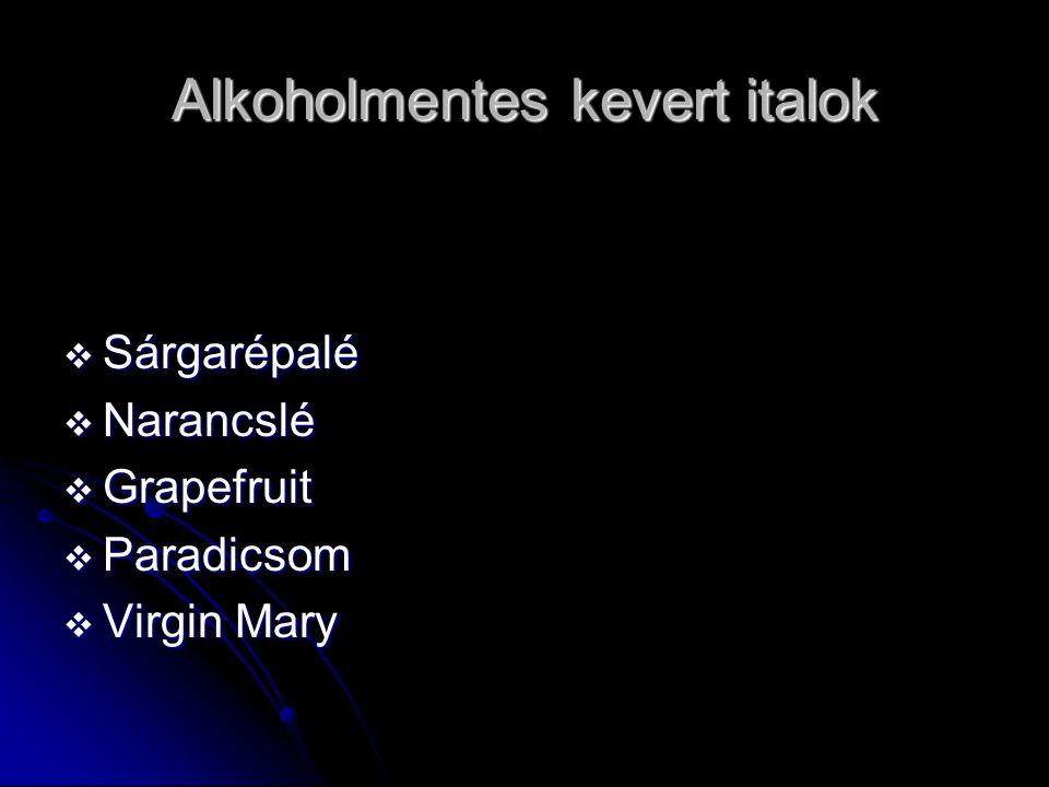 Alkoholmentes kevert italok