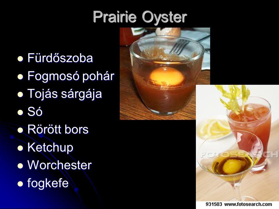 Prairie Oyster Fürdőszoba Fogmosó pohár Tojás sárgája Só Rörött bors