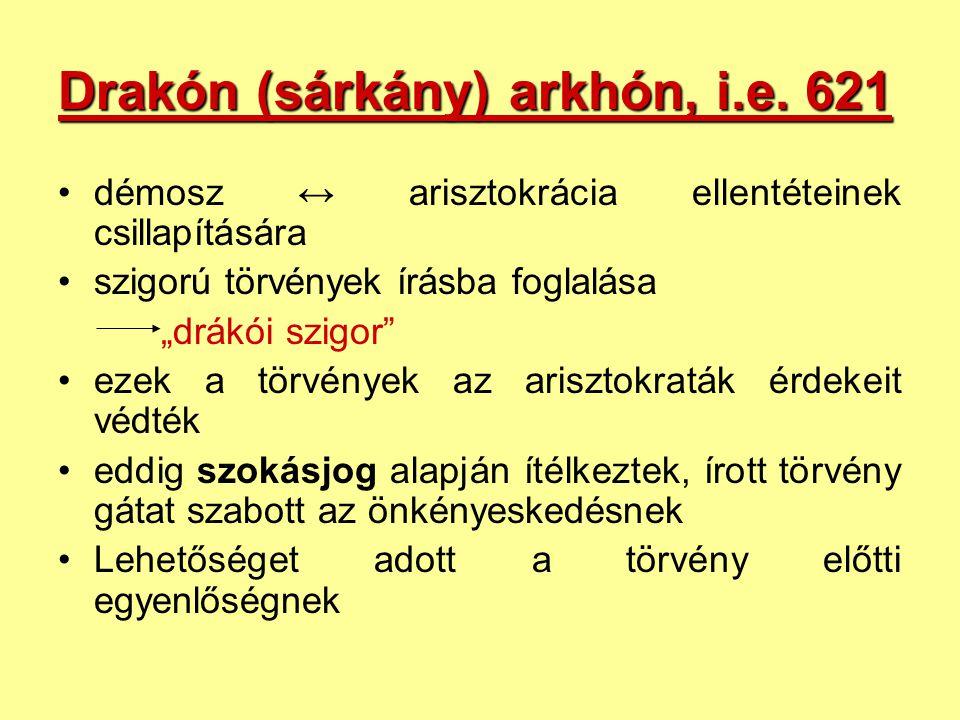 Drakón (sárkány) arkhón, i.e. 621