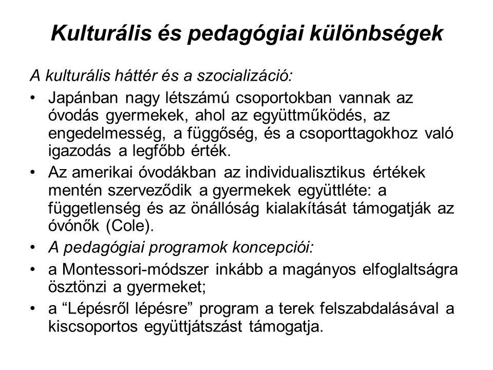 Kulturális és pedagógiai különbségek