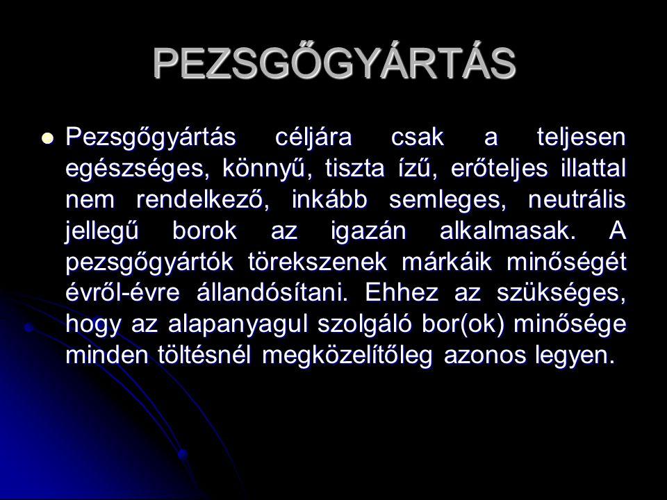 PEZSGŐGYÁRTÁS