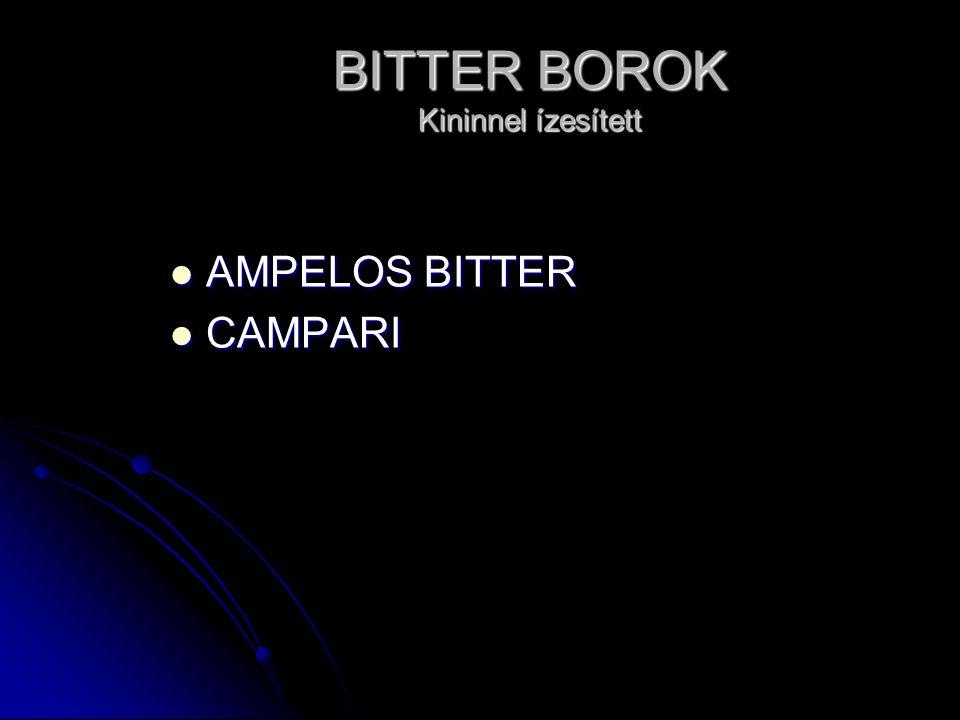 BITTER BOROK Kininnel ízesített