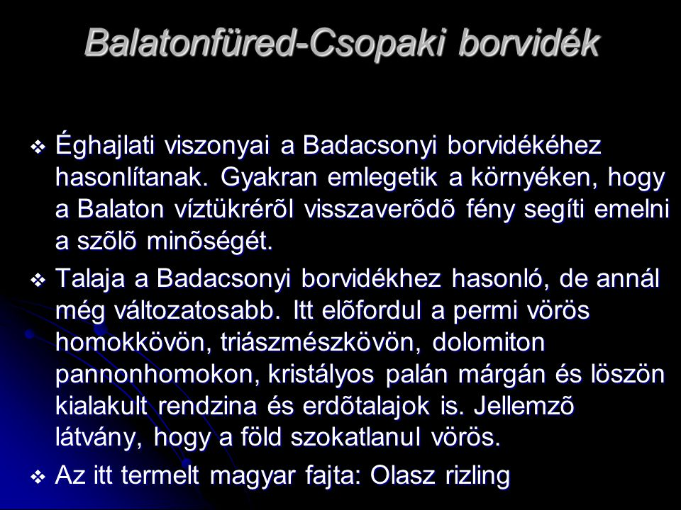 Balatonfüred-Csopaki borvidék