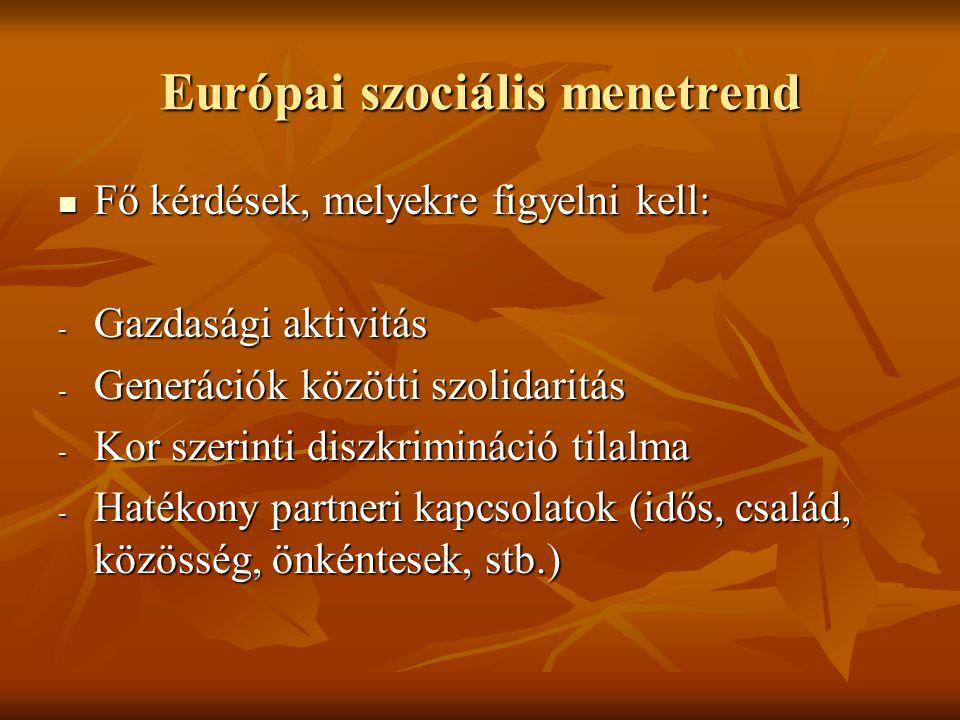Európai szociális menetrend