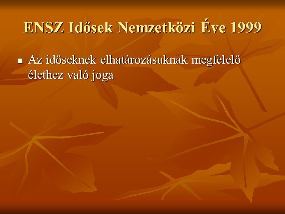 ENSZ Idősek Nemzetközi Éve 1999
