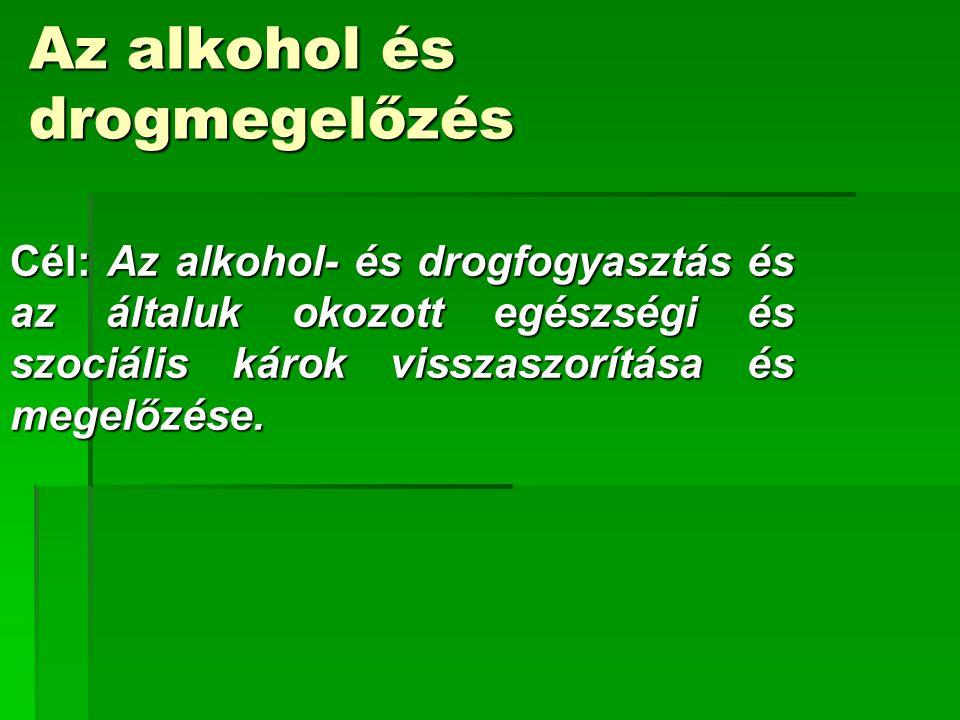 Az alkohol és drogmegelőzés