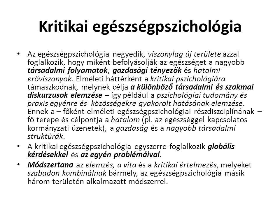 Kritikai egészségpszichológia