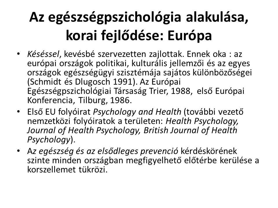 Az egészségpszichológia alakulása, korai fejlődése: Európa