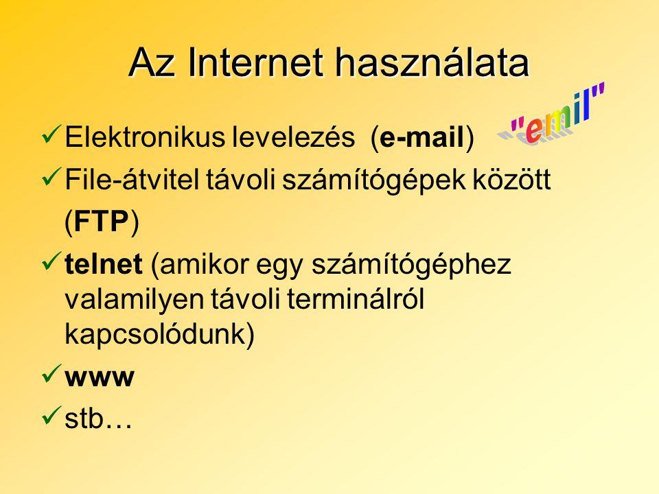 Az Internet használata