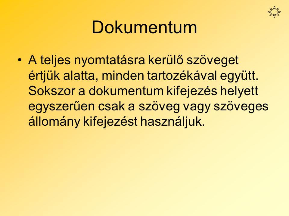 Dokumentum