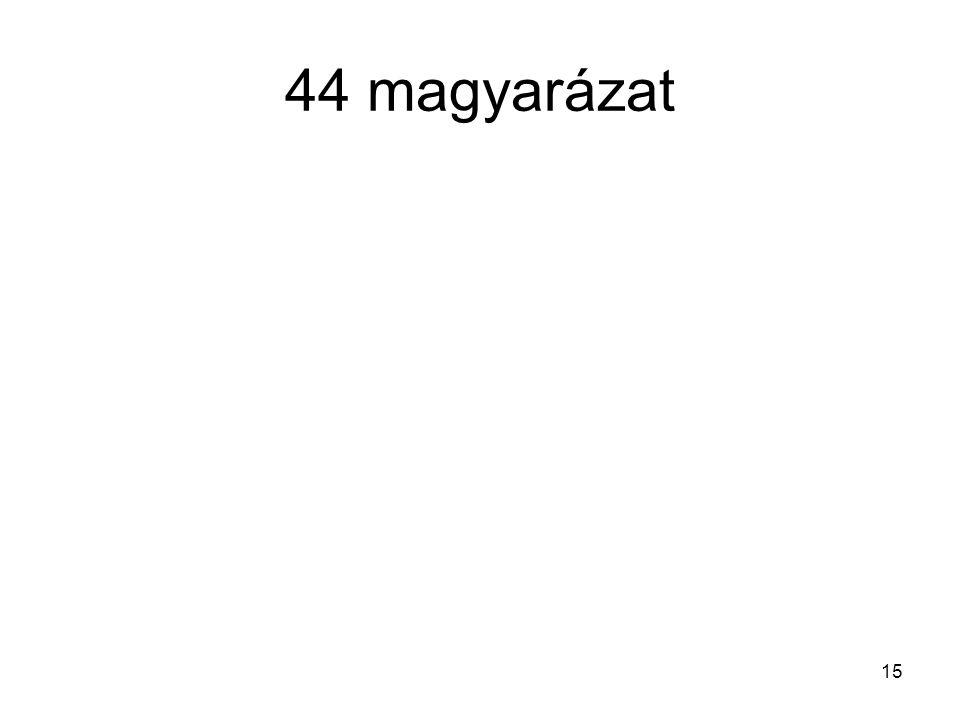 44 magyarázat