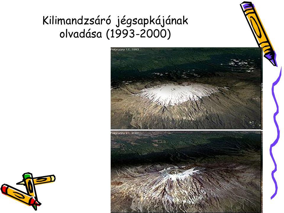 Kilimandzsáró jégsapkájának olvadása (1993-2000)