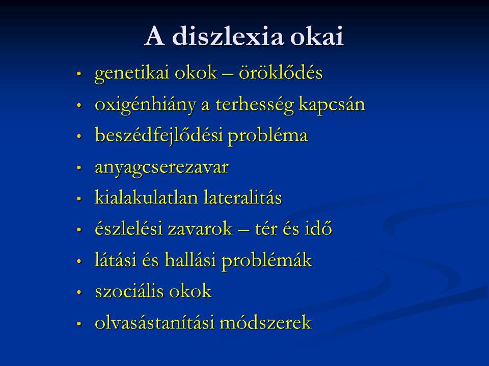 A diszlexia okai genetikai okok – öröklődés