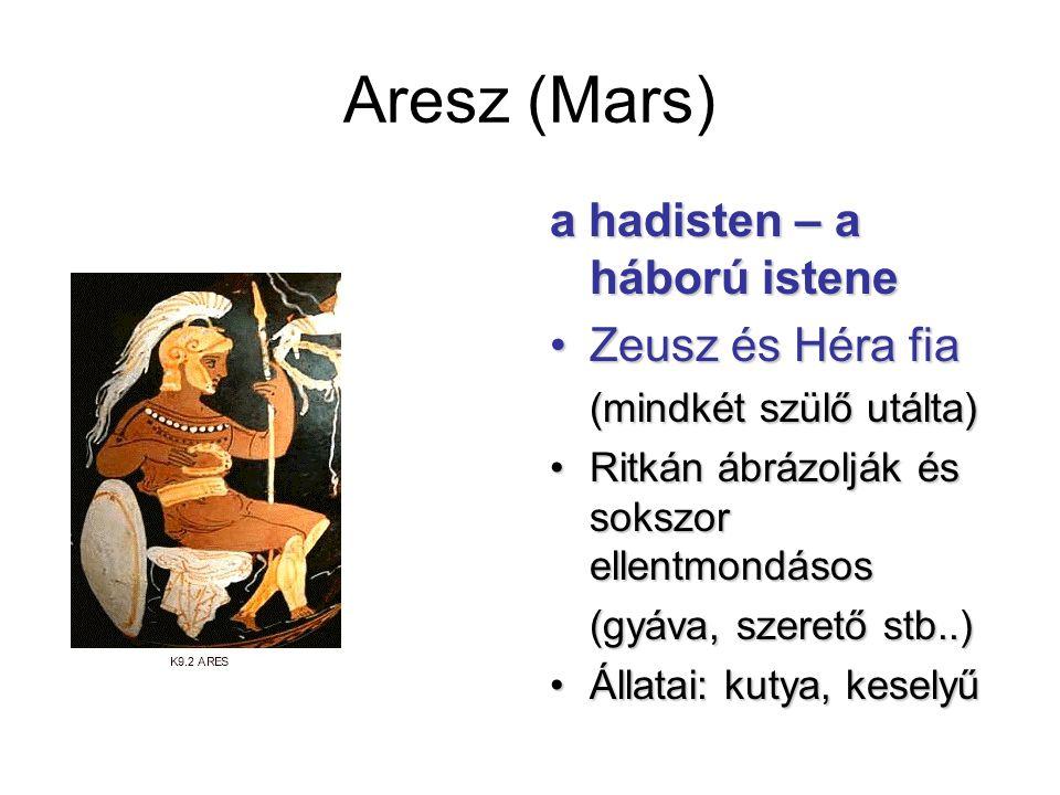 Aresz (Mars) a hadisten – a háború istene Zeusz és Héra fia