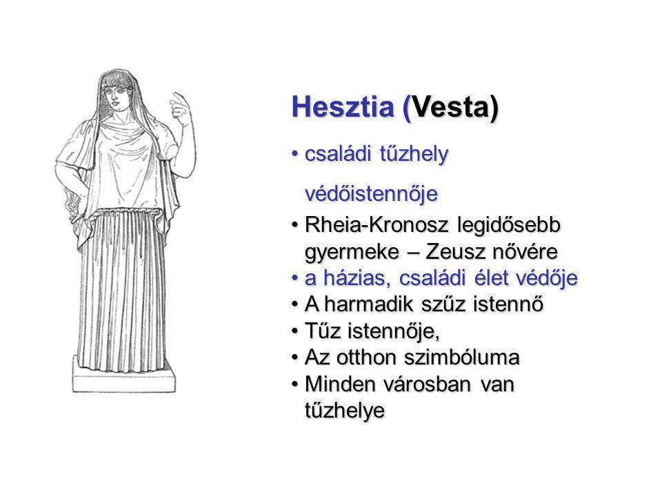Hesztia (Vesta) családi tűzhely védőistennője