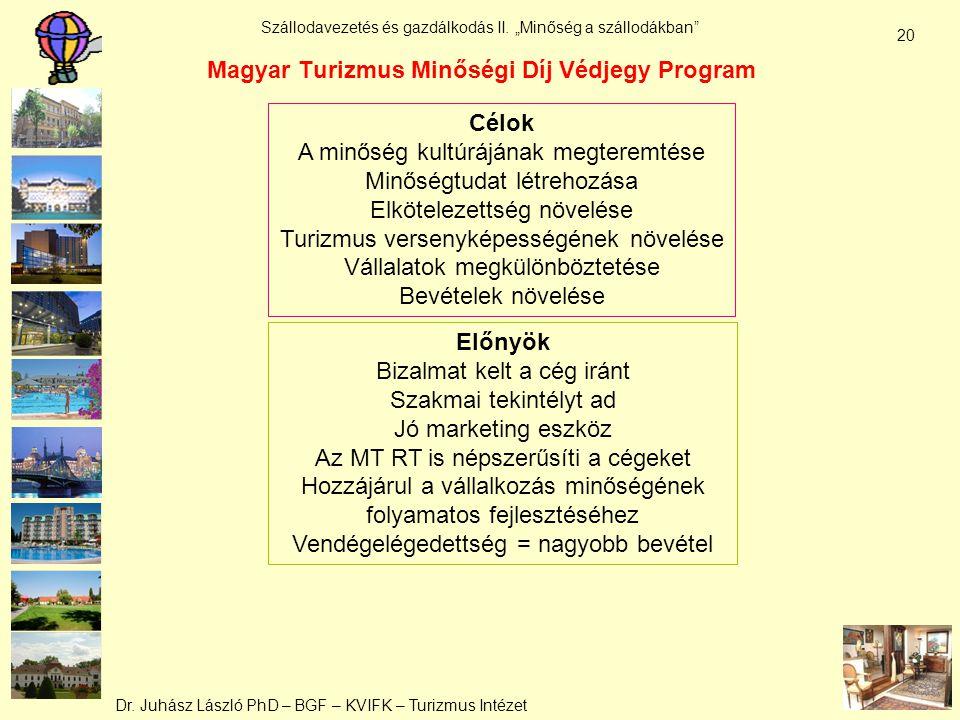 Magyar Turizmus Minőségi Díj Védjegy Program