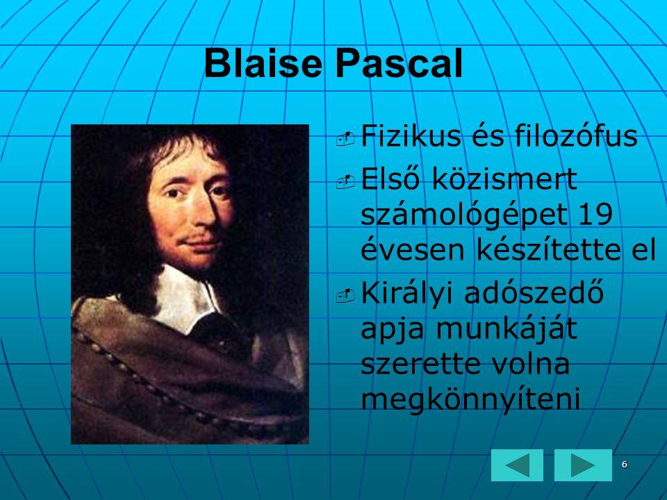Blaise Pascal Fizikus és filozófus