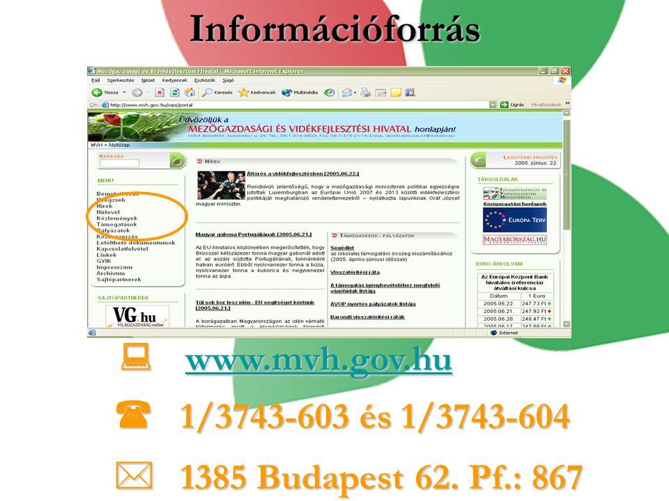 Információforrás  1/3743-603 és 1/3743-604