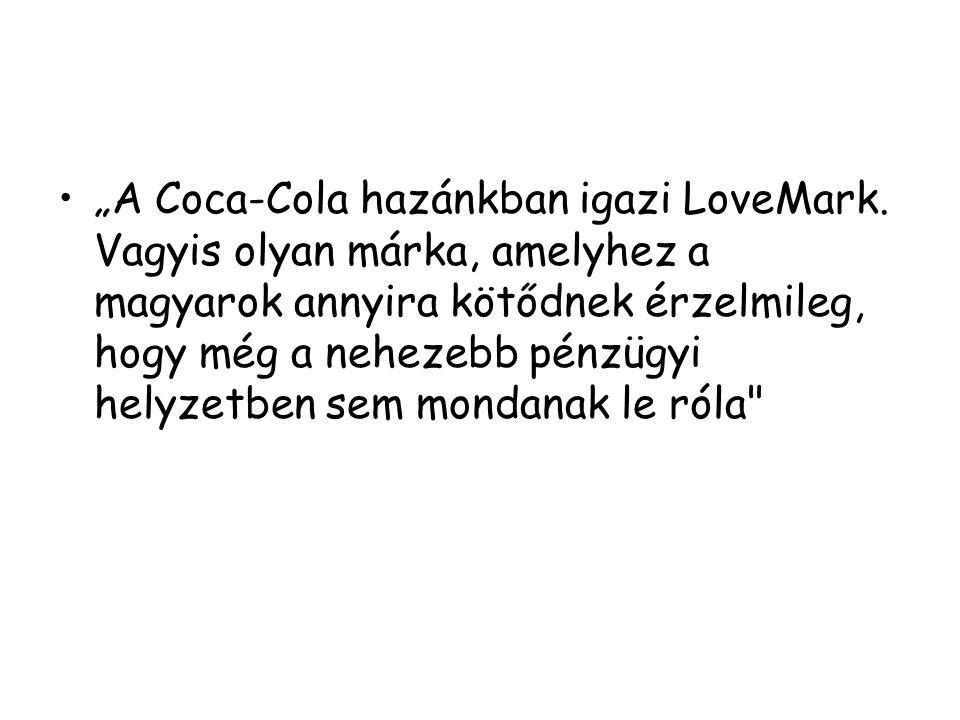 """""""A Coca-Cola hazánkban igazi LoveMark"""