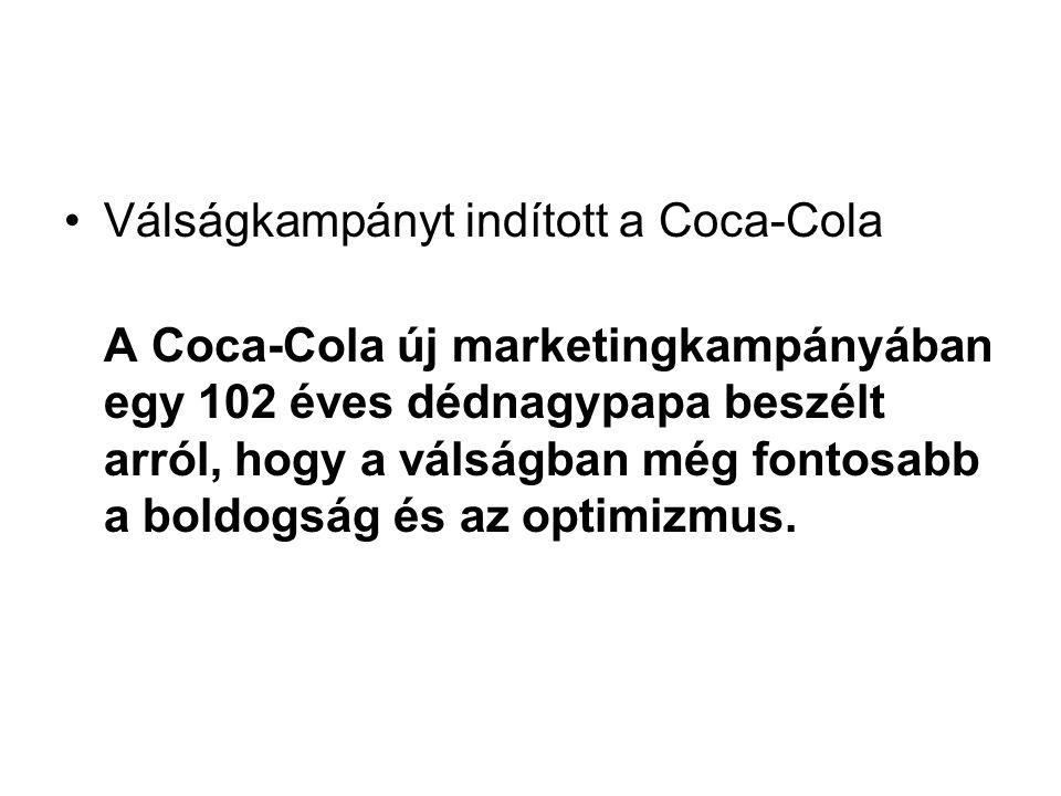 Válságkampányt indított a Coca-Cola