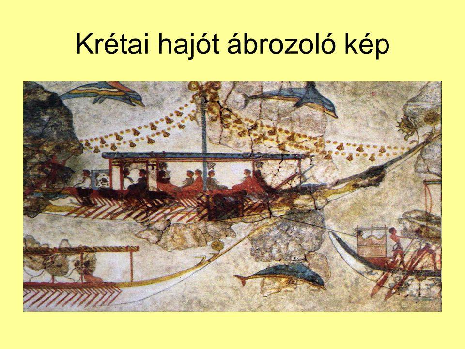 Krétai hajót ábrozoló kép
