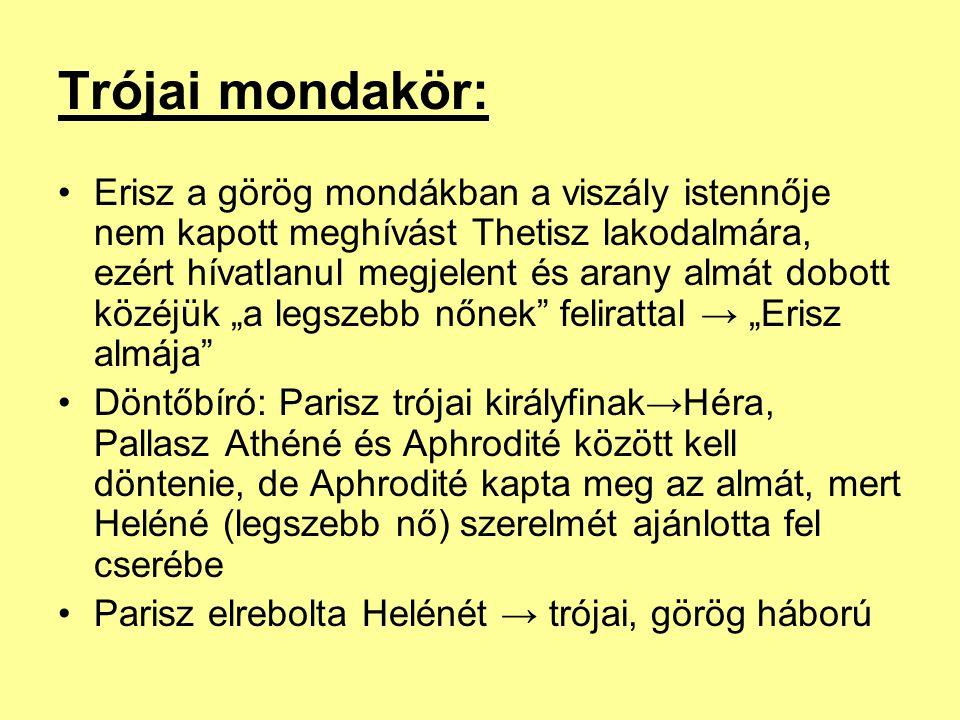 Trójai mondakör: