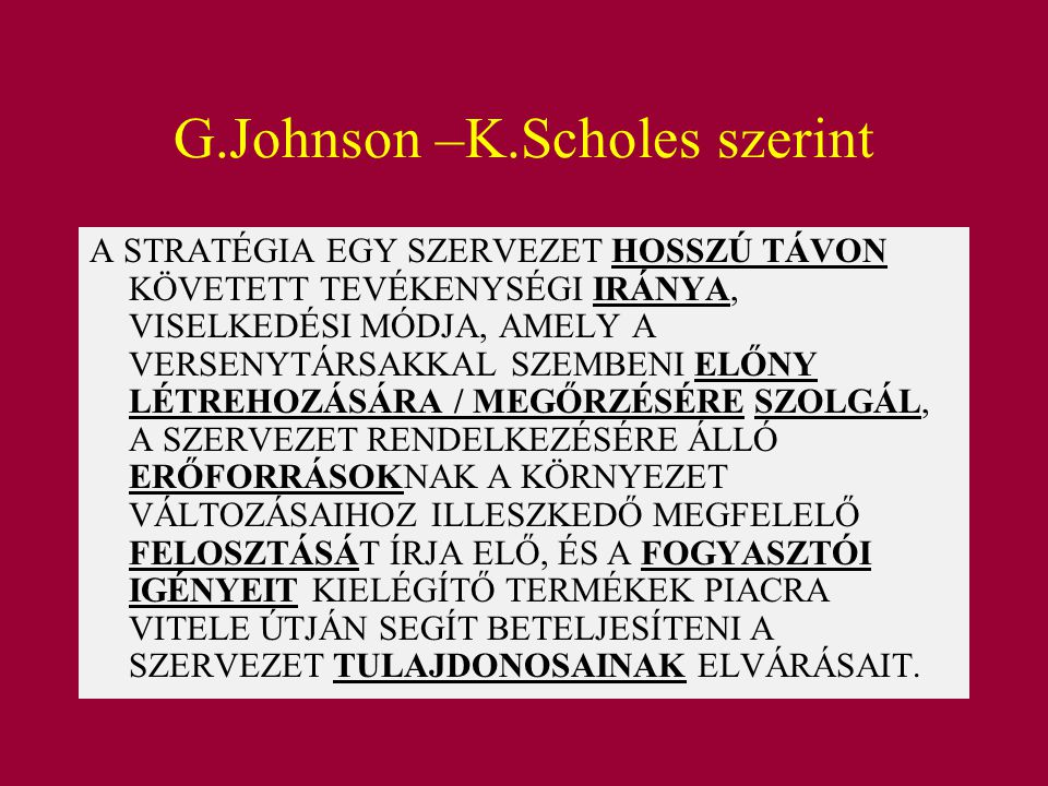 G.Johnson –K.Scholes szerint