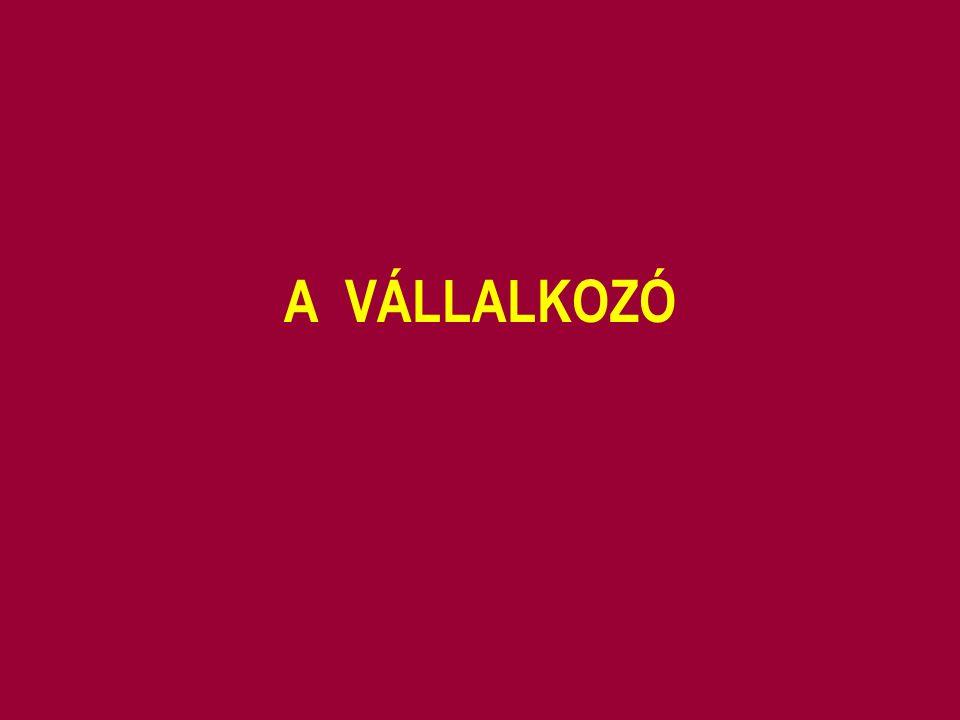 A VÁLLALKOZÓ