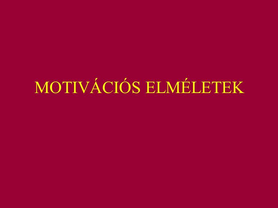 MOTIVÁCIÓS ELMÉLETEK