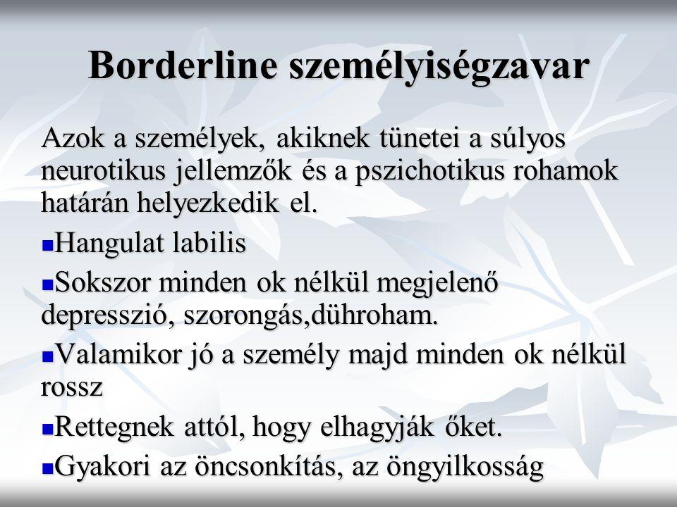Borderline személyiségzavar