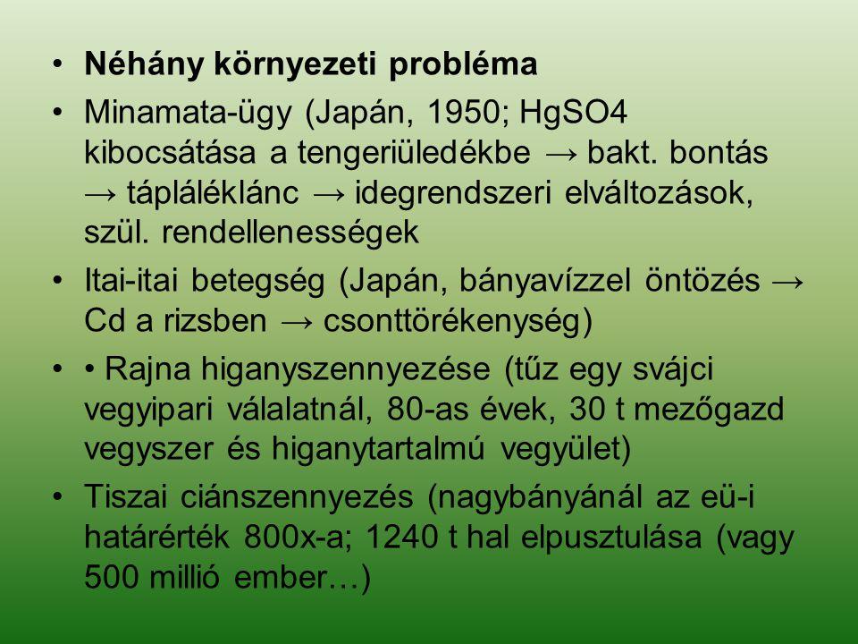 Néhány környezeti probléma