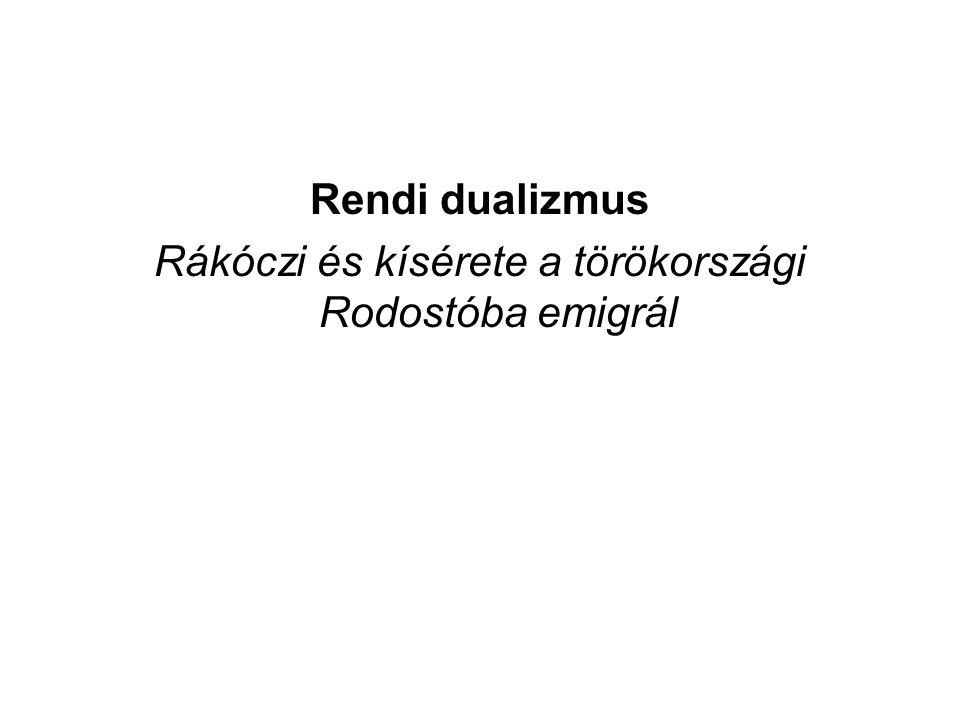 Rákóczi és kísérete a törökországi Rodostóba emigrál