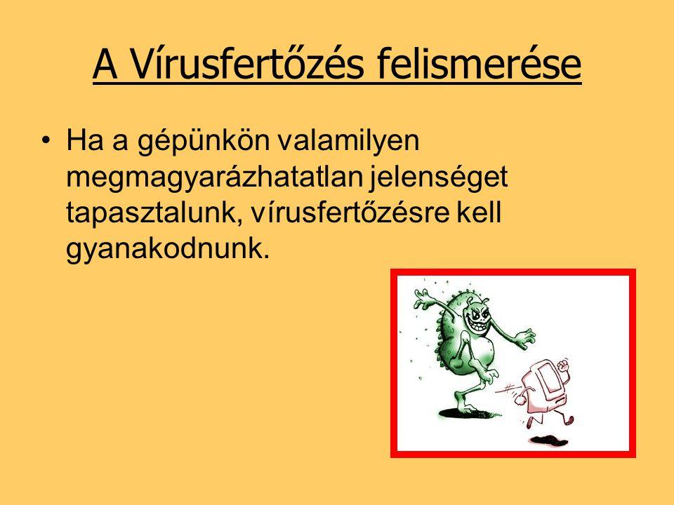 A Vírusfertőzés felismerése