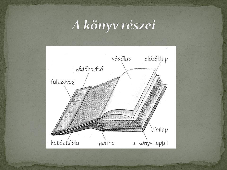 A könyv részei
