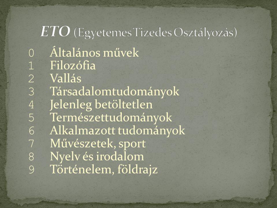 ETO (Egyetemes Tizedes Osztályozás)