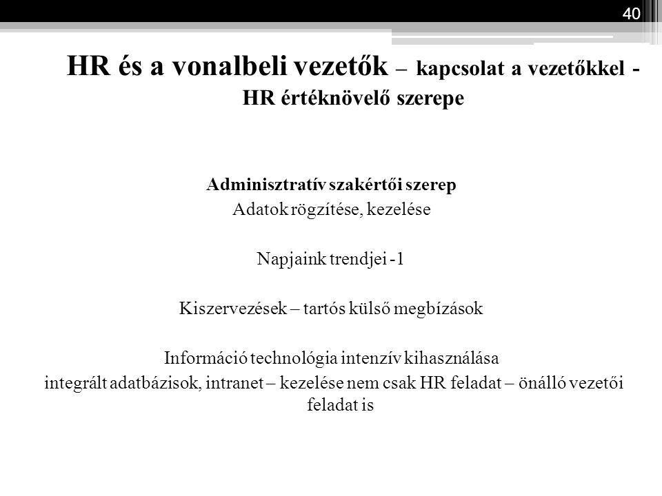 Adminisztratív szakértői szerep