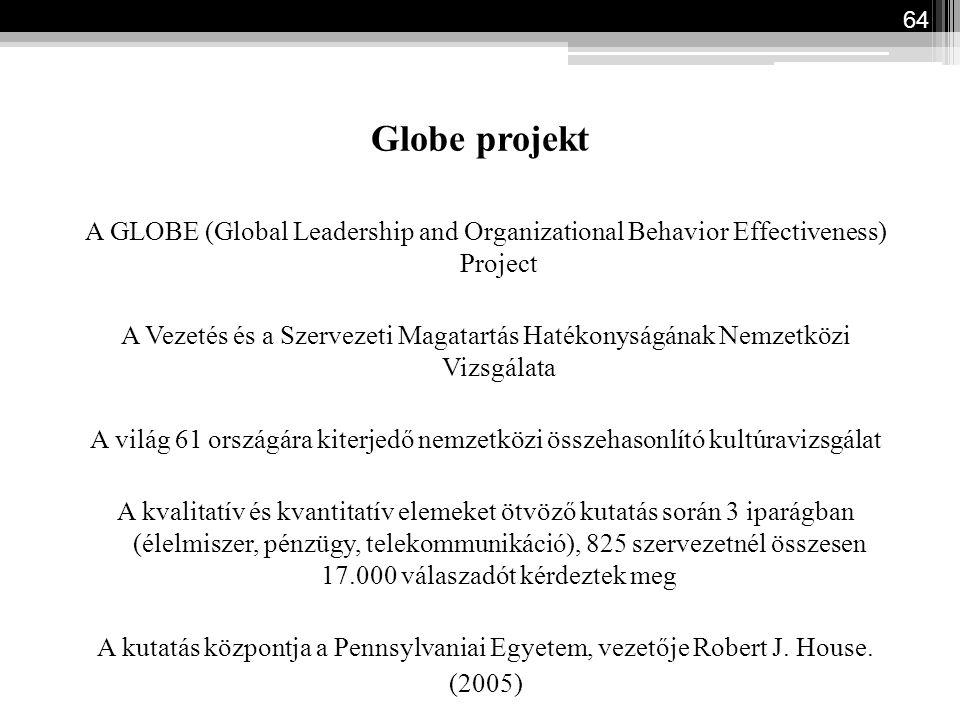 Globe projekt