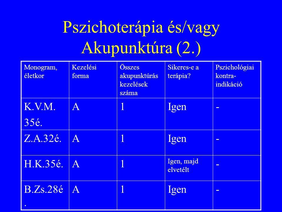 Pszichoterápia és/vagy Akupunktúra (2.)