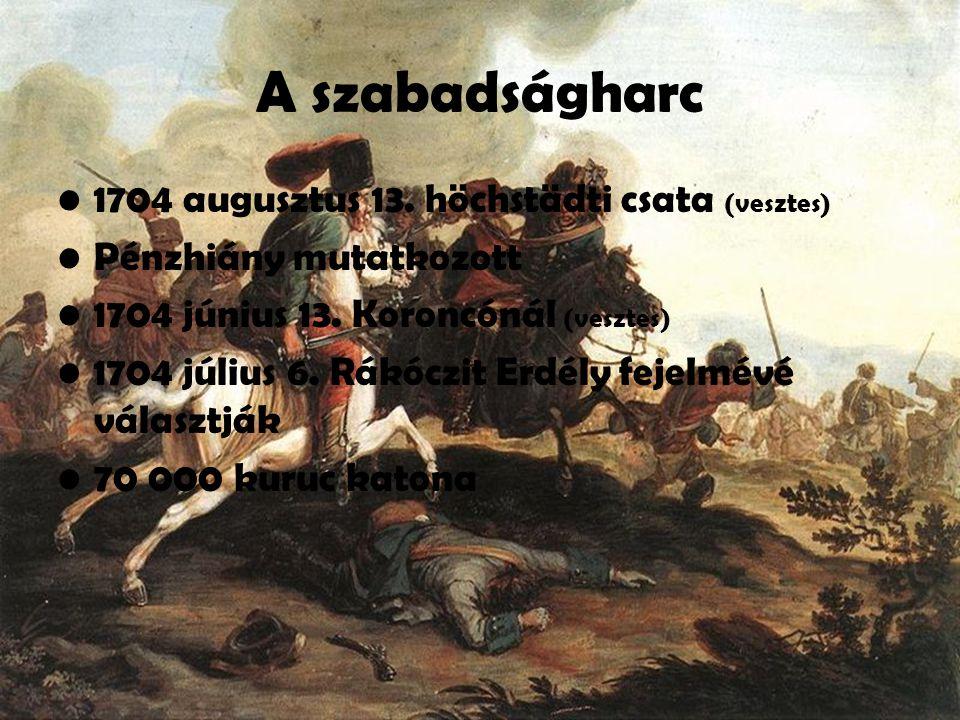 A szabadságharc 1704 augusztus 13. höchstädti csata (vesztes)