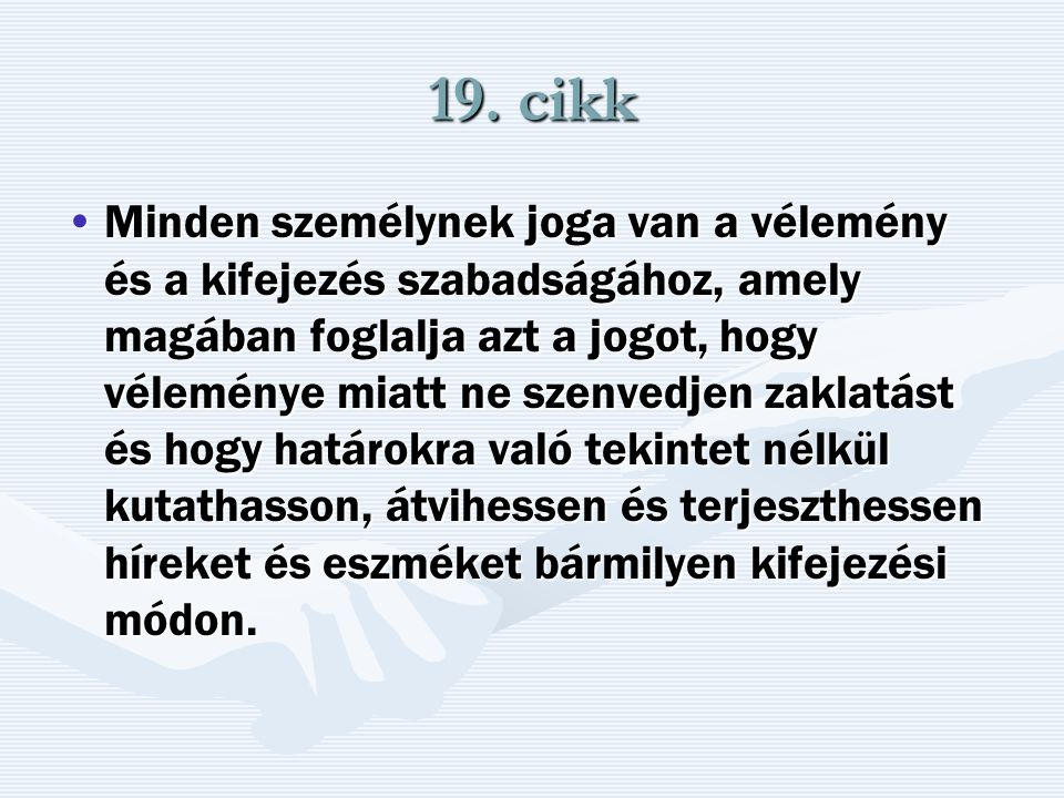 19. cikk