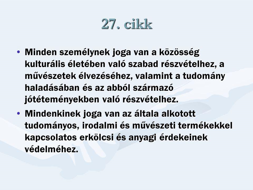 27. cikk